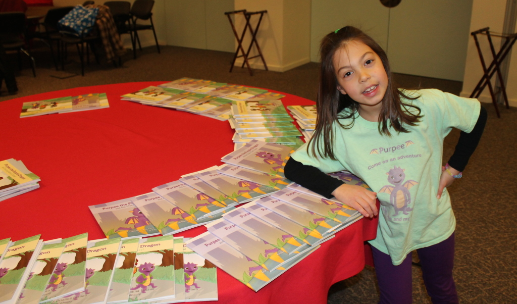 Purpee the Purple Dragon Childrens Books Authors visit ECF2