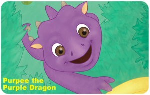 Purpee the Dragon for Excerpt 1 Rounded